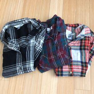 Flannel Bundle! 3 Old Navy Flannels Size Medium